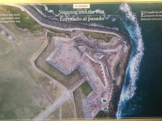 San Juan National Historic Site: map of fort