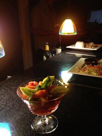 Thai Vibe: Fruit Salad Grand Marnier.