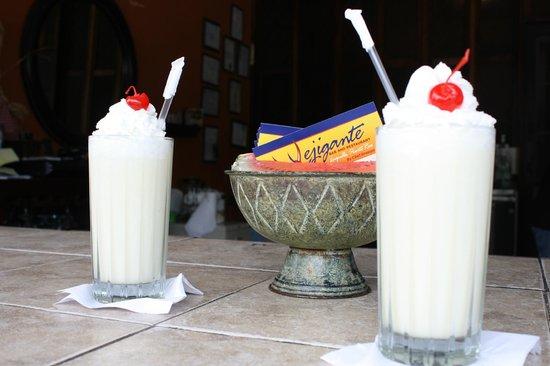 Vejigante: Pina Coladas! w/ rum ;)