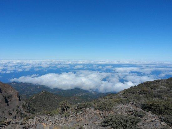 Roque de los Muchachos: on the way to the top