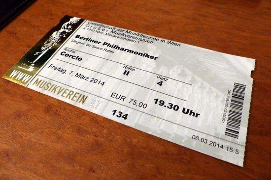 Berliner Philharmoniker at Musikverein in Vienna