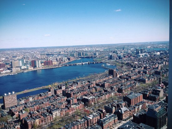 Skywalk Observatory: View of the Charles River