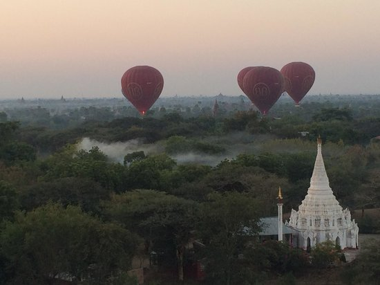 Balloons over Bagan: One of the many brilliant views