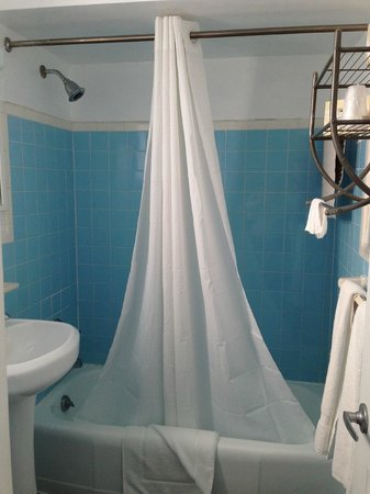 Hollywood Beachside Boutique Suites: Bathroom was clean but needed updating (and better hot water)