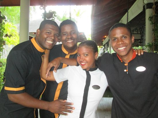 Paradisus Punta Cana Resort: Mindri Sanchez and the boys - Great Smiles, Great Service!
