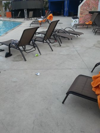 Hard Rock Hotel Palm Springs : filthy pool area