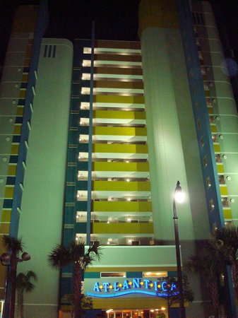 Atlantica Oceanfront Resort : hotel at night