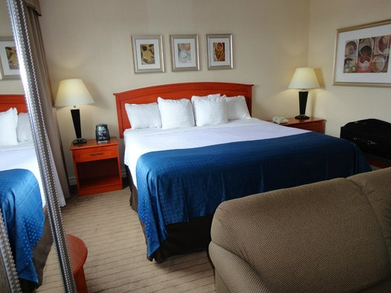 Holiday Inn & Suites Ottawa Kanata: King bed and sitting area