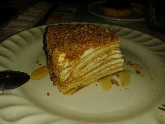Kolobok Universidad: Lo mejor de la comida... el pastel de miel, fantástico!