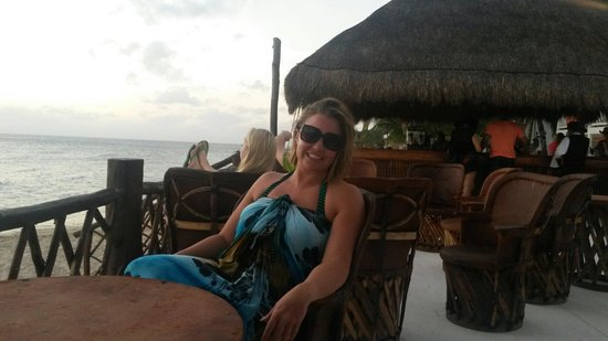 Sunscape Sabor Cozumel: My wife on a beautiful day resting by the beach.