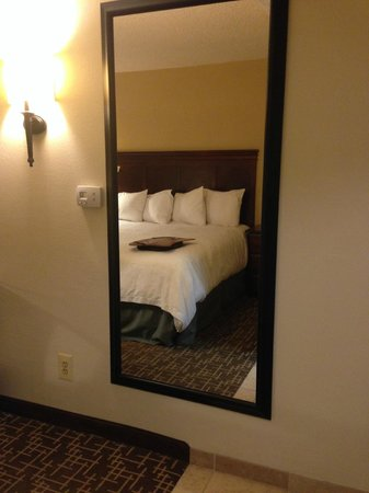 Hampton Inn Ft. Lauderdale - Cypress Creek: Long mirrors are always a plus in hotels -- helps to see that you look good before leaving for w