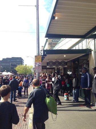 Starbucks 1st & Pike: Original Starbucks, with a long waiting line