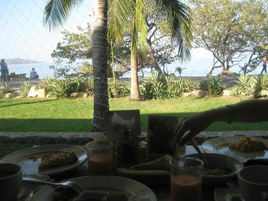 Flamingo Beach Resort And Spa: view from breakfast area