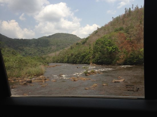 Mountain Pine Ridge Forest Reserve : View of river from Guacamayo Bridge