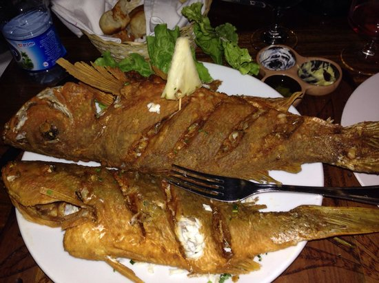 Fried fish one to eat and one to go picture of los for What to eat with fried fish