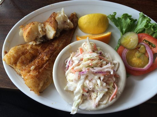 Tony's Seafood Restaurant : Blackened fish of the day.