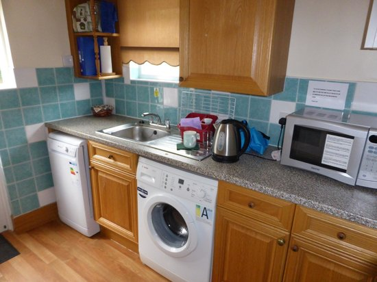 Clean modern kitchen with washing machine very handy for House kitchen images