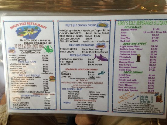 Bird's Isle: Front menu