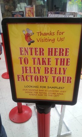 Jelly Belly Factory Tour: Tour starts here
