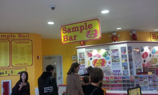 Jelly Belly Factory Tour: Candy Sample Line
