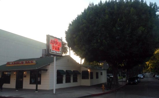 Apple Pan: On the corner of Pico and Westwood and across from the mall.