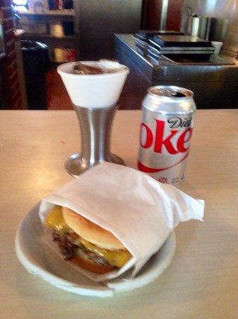 Apple Pan: Steak burger and Diet Coke -- Classic!