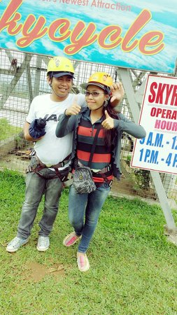 Eden Nature Park & Resort : Skycyle for life.. two thumb's up guys..