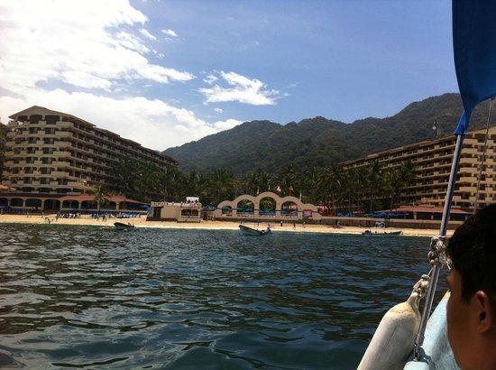 Barcelo Puerto Vallarta : el hotel desde el mar