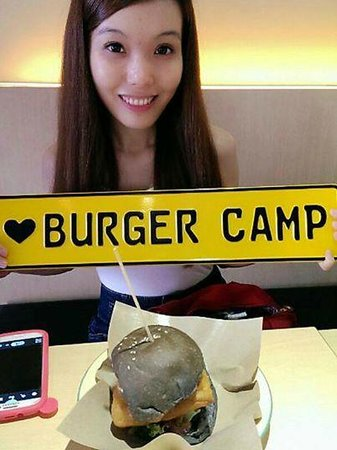 Pretty girl at Burger Camp