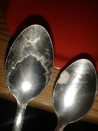 Gross......com this was the cleanest spoons I could find