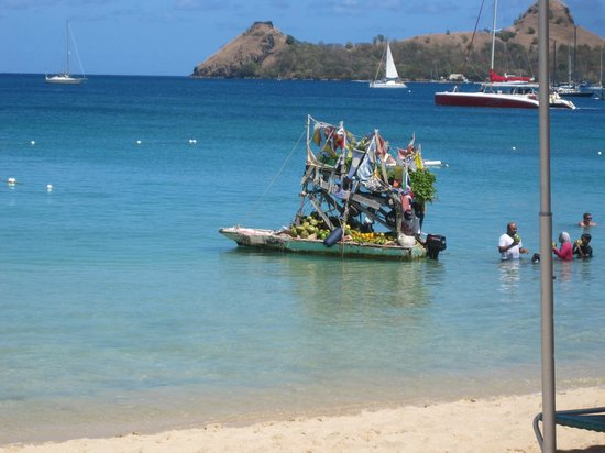 Bay Gardens Beach Resort: The Banana Boat - literally!