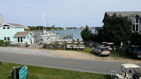 Ocracoke Harbor Inn: View of the harbor from room 202.