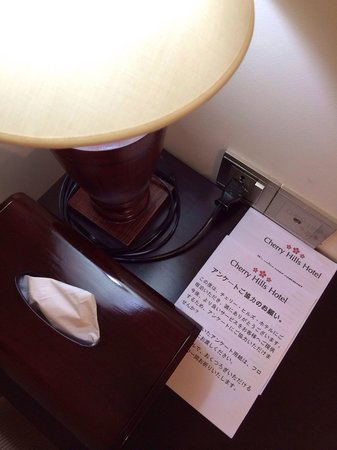 Cherry Hills Hotel: Bedside table