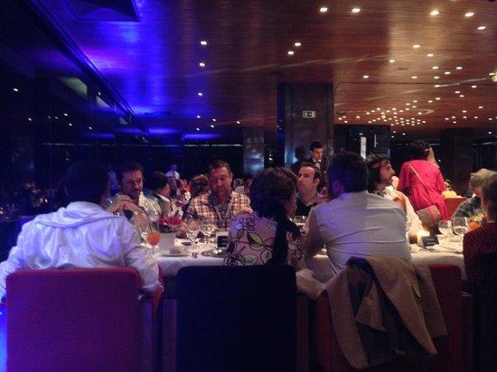 Altis Belém Hotel & Spa: dernière étage - restaurant avec une belle vue sur Lisbonne