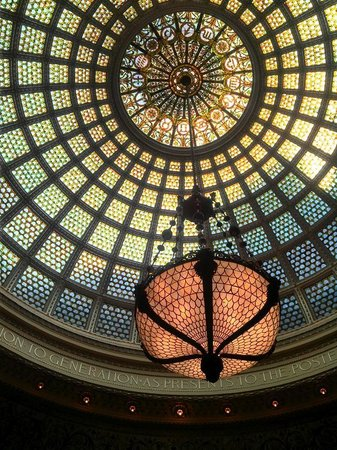 Chicago's Finest Tours : Cultural Center Tiffany Ceiling