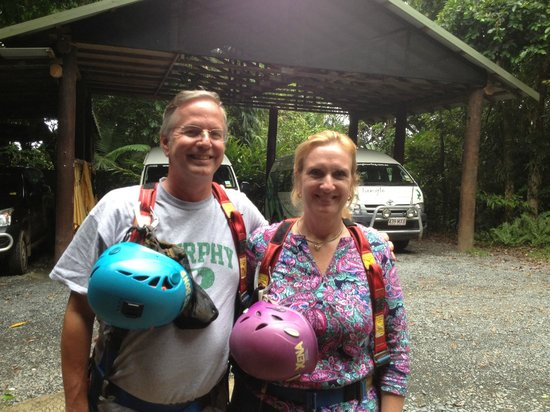Jungle Surfing Canopy Tours: Prepped and ready to go