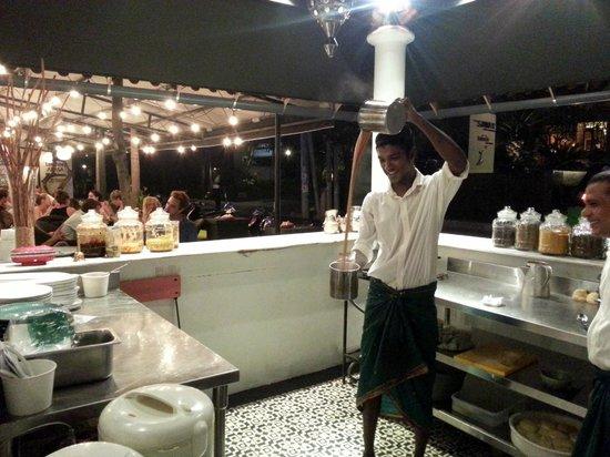 Lello Lello: Ajay in action brewing an Indian Style Tea