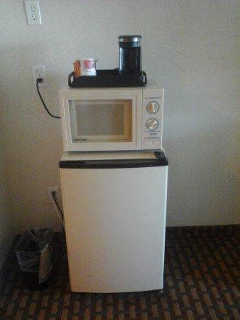 Ramada Limited San Francisco Airport North: fridge and microwave