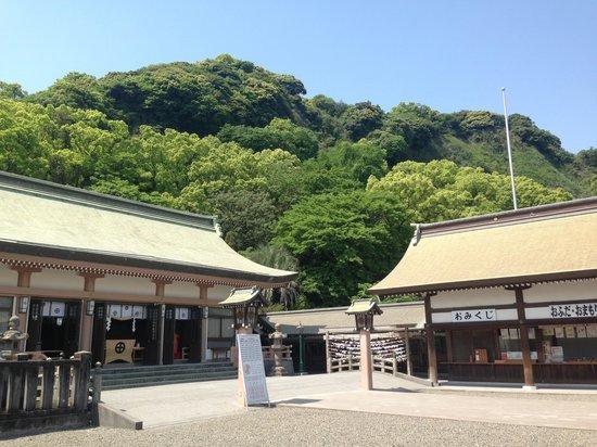 Terukuni Shrine: 緑あふれる神社です