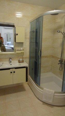 Golden Sun Palace Hotel: Vue de la salle de bains chambre supérieure