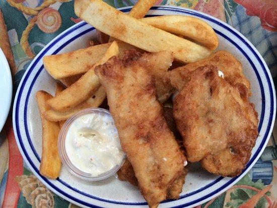 Barbara's Fishtrap : fish and chips dish