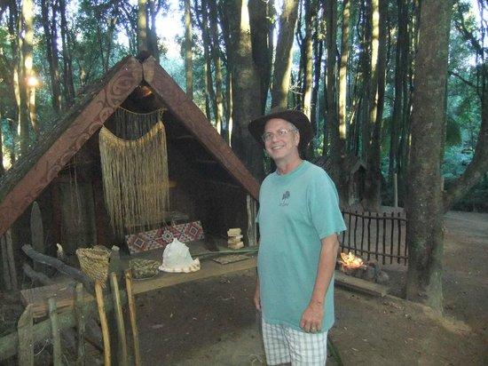 Village maori de Tamaki : Weaving