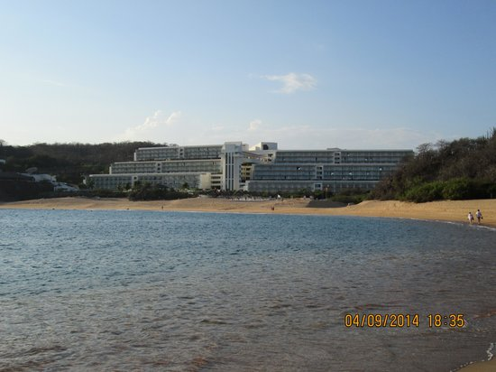 Secrets Huatulco Resort & Spa: View from the beach.