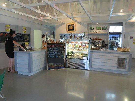 Coromandel Mussell Kitchen: view from entree door