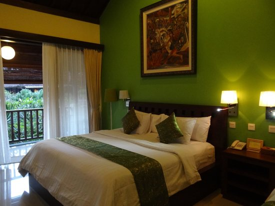 Lumbung Sari Cottages: Our room. Top Floor overlooking the pool