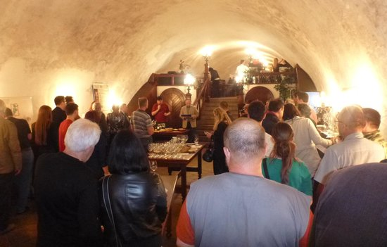 Wine cellar of the Moravian Bank of wine: lots of information about wine