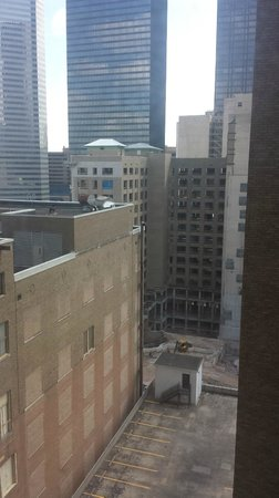 Magnolia Hotel Houston : View from room - didn't get a room with a good view though