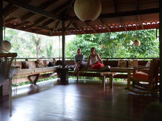 Caribe Town: Veranda im oberen Geschoss des Casa Gecko