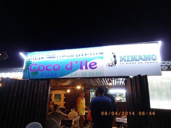 Coco D'isle: entrée du restaurant