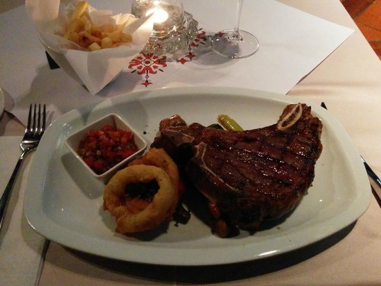 The Steakhouse : Steak with french fries